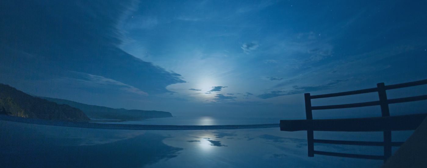 Moonlight over the Pacific