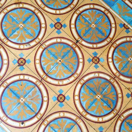 Custom floor tiles